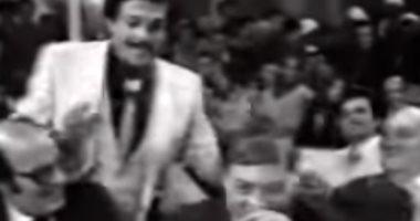 فى ذكرى ميلاده الـ83.. فيديو نادر سمير غانم يجبر فريد شوقى على الغناء