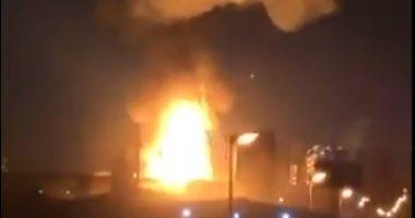 انفجار خط غاز بأوكلاهوما الأمريكية وسحابة من الدخان تغطى سماء الولاية.. فيديو