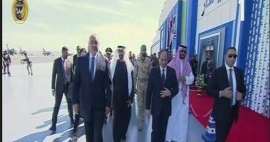 الرئيس السيسى يشهد افتتاح قاعدة برنيس العسكرية بحضور الشيخ محمد بن زايد
