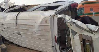"""إصابة 19 شخصًا فى حادث تصادم بطريق """"السويس – القاهرة"""".. اعرف الأسماء"""
