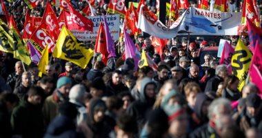 تواصل المظاهرات فى فرنسا ضد قانون ماكرون لإصلاح المعاشات