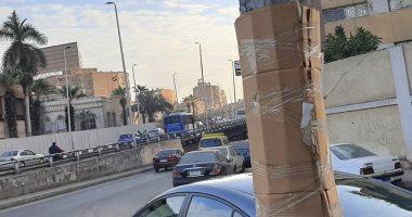قارئ يرصد عمود كهرباء بدون غطاء مكشوفة يعرض المواطنين للخطر بشارع رمسيس