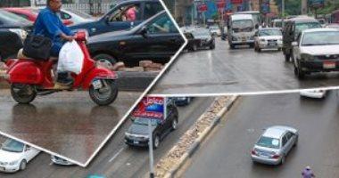 سقوط أمطار  على مناطق متفرقة بالقاهرة والجيزة