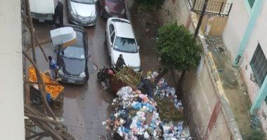 شكوى من تراكم القمامة والروائح الكريهة فى شارع شيديا فى الإسكندرية