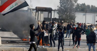 متظاهرون فى العراق يقطعون الطرق وقوات الأمن تطلق الغاز المسيل