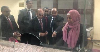 وزير العدل يتفقد محكمة أسوان للتأكد من انتظام العمل بها