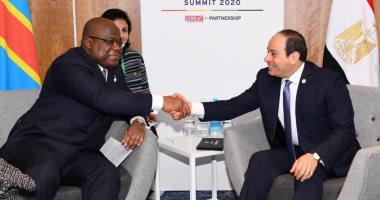 السيسى يلتقى رئيس الكونغو الديمقراطية بلندن.. وتشيسيكيدى يشيد بدعم مصر للحفاظ على السلام