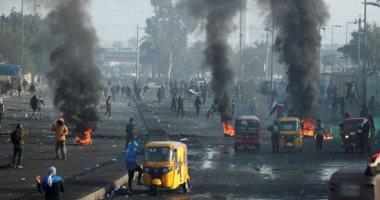 العراق.. قوة بزى مدنى تقتحم ساحة الخلانى وتحرق خيام المعتصمين وسط بغداد