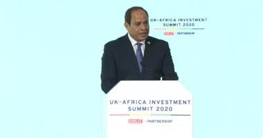 فيديو.. الرئيس السيسى يدعو من لندن لفتح أسواق بريطانيا أمام المنتجات الإفريقية
