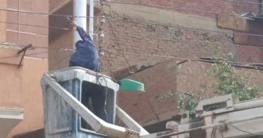 قارئ يشكو تلف مصابيح أعمدة الإنارة فى شارع طلحة بن عبد الله بالإسكندرية