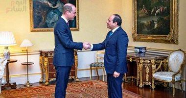 الأمير وليام مرحبا بالرئيس السيسى فى قصر باكينجهام: نقدر مصر رسميا وشعبيا