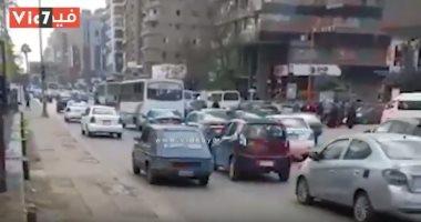 كثافات مرورية بشارعى فيصل والهرم بسبب أعمال إصلاحات كوبرى الجيزة المعدنى