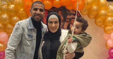 """مؤمن زكريا يحتفل مع """"الحبايب"""" بعيد ميلاد ابنه مالك.. صور"""