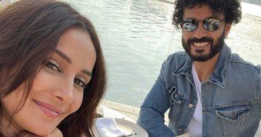 """الفنانة السورية كندة حنا لـ""""خالد النبوى"""": ربنا يحميك من كل مكروه"""