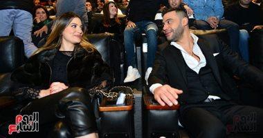 """وصول محمد إمام للاحتفال بالعرض الخاص لفيلمه """"لص بغداد"""" قبل انطلاقه للجمهور"""