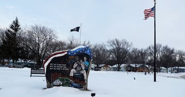 تساقط الثلوج فى ولاية أيوا الأمريكية