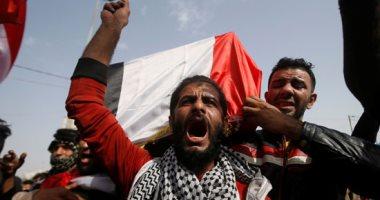 مظاهرات فى محافظة البصرة بالعراق خلال تشييع شهداء المظاهرات