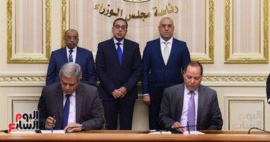 """رئيس الوزراء يشهد توقيع إتفاقية مشروعات الصرف لقرى مبادرة """"حياة كريمة"""""""