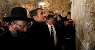 الرئيس الفرنسى يزور القدس ويطرد شرطة الاحتلال من أمام كنيسة الصلاحية