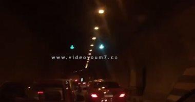 فيديو.. كثافات متحركة داخل نفق الأزهر أمام المتجه من صلاح سالم لوسط البلد