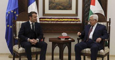 الرئيس الفلسطينى يستقبل نظيره الفرنسى فى الضفة الغربية