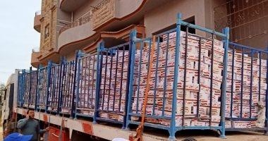 تسليم 40 كرتونة أغذية للأسر المعزولة فى قرية بالشرقية بسبب كورونا