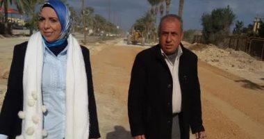 """انتهاء معالجة هبوطات طريق """"حسن علام"""" غرب الإسكندرية مؤقتا حفاظا على الأرواح"""