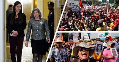 صور.. العالم هذا الصباح.. مجلس الشيوخ يواصل محاكمة ترامب.. والديمقراطيون يعرضون الاتهامات.. والآلاف يتظاهرون فى فنزويلا دعما للرئيس نيكولاس مادورو.. ومظاهرات بالمكسيك احتجاجا على زيادة معدلات العنف بالبلاد