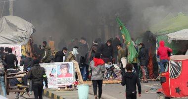 محتجون عراقيون يغلقون عددا من الدوائر الحكومية فى مدينة الديوانية