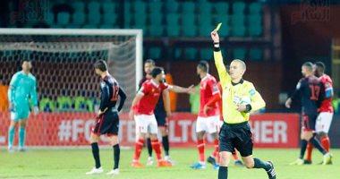 فيديو.. بطاقة صفراء لجاريدو فى مباراة الأهلي والنجم الساحلى