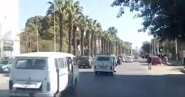 فيديو .. شاهد الحالة المرورية فى شارع الهرم فى الاتجاهين