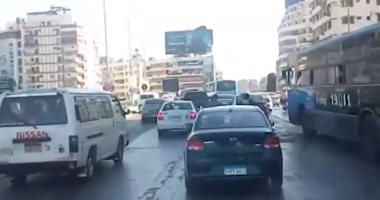 فيديو.. زحام مرورى بنفق الهرم بسبب أعمال صيانة كوبرى الجيزة