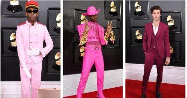 """""""البدلة الوردى"""".. كلمة سر تألق النجوم الذكور فى حفل Grammy.. اعرف التفاصيل"""
