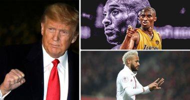 ترامب ينعى أسطورة السلة كوبي براينت.. ونيمار يهدي هدفا لروحه