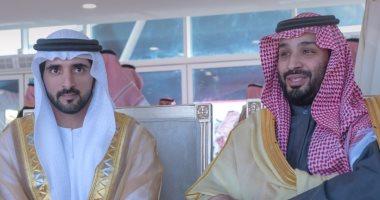 حمدان بن راشد يمدح ولى عهد السعودية فى صورة جمعتهما.. اعرف التفاصيل