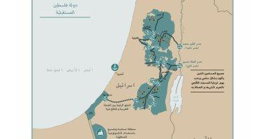 ترامب يغرد بالعربية وينشر خريطة دولة فلسطين المستقبلية بعد خطته للسلام