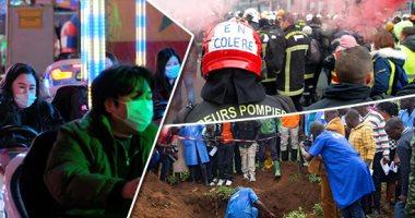 صور.. العالم هذا المساء.. المئات من رجال الإطفاء يتظاهرون فى فرنسا لتحسين أحوال العمل.. إجراءات وقائية على مستوى العالم لمواجهة انتشار فيروس كورونا.. اكتشاف مقبرة جماعية فى بوروندى تضم رفاث عشرات الأشخاص