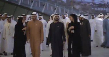 """محمد بن راشد ومحمد بن زايد يفتتحان """"ساحة الوصل"""" بموقع إكسبو 2020"""