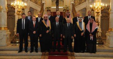 النائب العام يعقد لقاءً ثنائياً مع نظيره السعودي بحضور رئيس القضاء الأعلى ووزير العدل