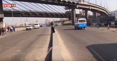 فيديو.. سيولة مرورية بميدان ومحاور حدائق القبة