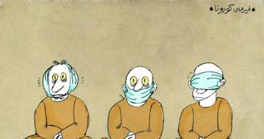 """كاريكاتير صحيفة إماراتية.. مواجهة فيروس """"كورونا"""" بأساليب مختلفة"""