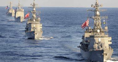 سفينة حربية يابانية تبحر متجهة إلى الشرق الأوسط