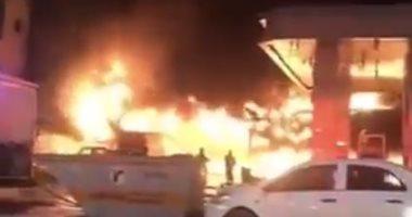 فيديو متداول لحريق هائل فى حى العليا بالعاصمة السعودية الرياض