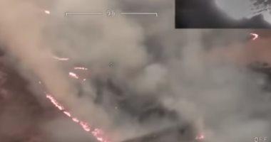 الحرائق تعود إلى استراليا.. تصوير جوى يظهر حرائق ضخمة فى بريدبو (فيديو)