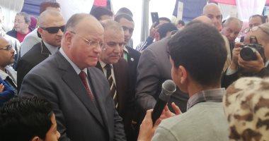 صور.. محافظ القاهرة: سنقدم كل الدعم لتشغيل الشباب وتمويل مشروعاتهم