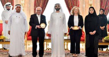 محمد بن راشد يكرم العالمين لورديس فيجا ورشيد اليزمي