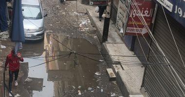 شكوي من انتشار مياه الصرف الصحى شارع المسابك بمنطقة بشتيل