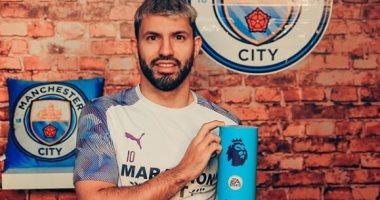حساب مانشستر سيتى على تويتر يحتفل بتتويج أجويرو بجائزة لاعب الشهر
