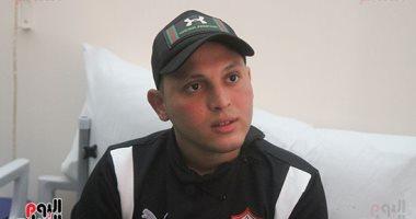 نقل سعد محمد لاعب الزمالك المُصاب بالسرطان لمستشفى خليفة الدولى