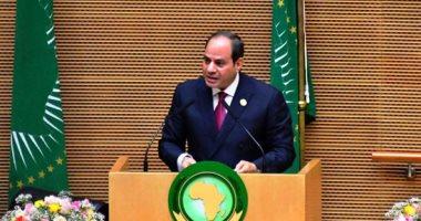 السيسى يقترح استضافة مصر لقمة أفريقية لبحث إنشاء قوة أفريقية لمكافحة الإرهاب